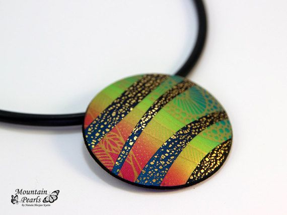 Hey, I found this really awesome Etsy listing at https://www.etsy.com/listing/510362719/rainbow-round-necklace-statement