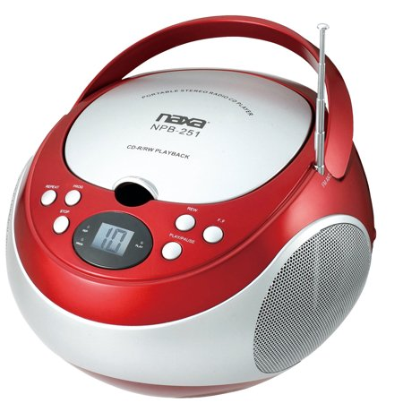 Naxa Portable CD Player with AM/FM Stereo Radio- Red | Products in