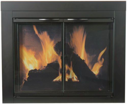 Astor Medium Cabinet Style Fireplace Door at Menards Model Number: AS-1011  |  Menards® SKU: 6406000 Variation: Black
