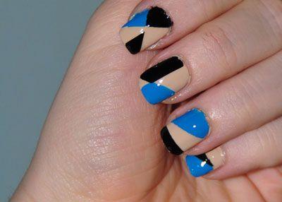Geometric manicure tutorial pinterest nail manicure and manicure step 5 do it yourself nail manicure tutorial black blue and beige geometric solutioingenieria Choice Image