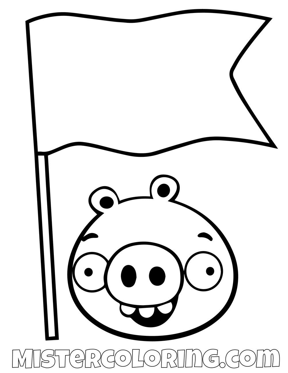 pig flag angry birds coloring pages