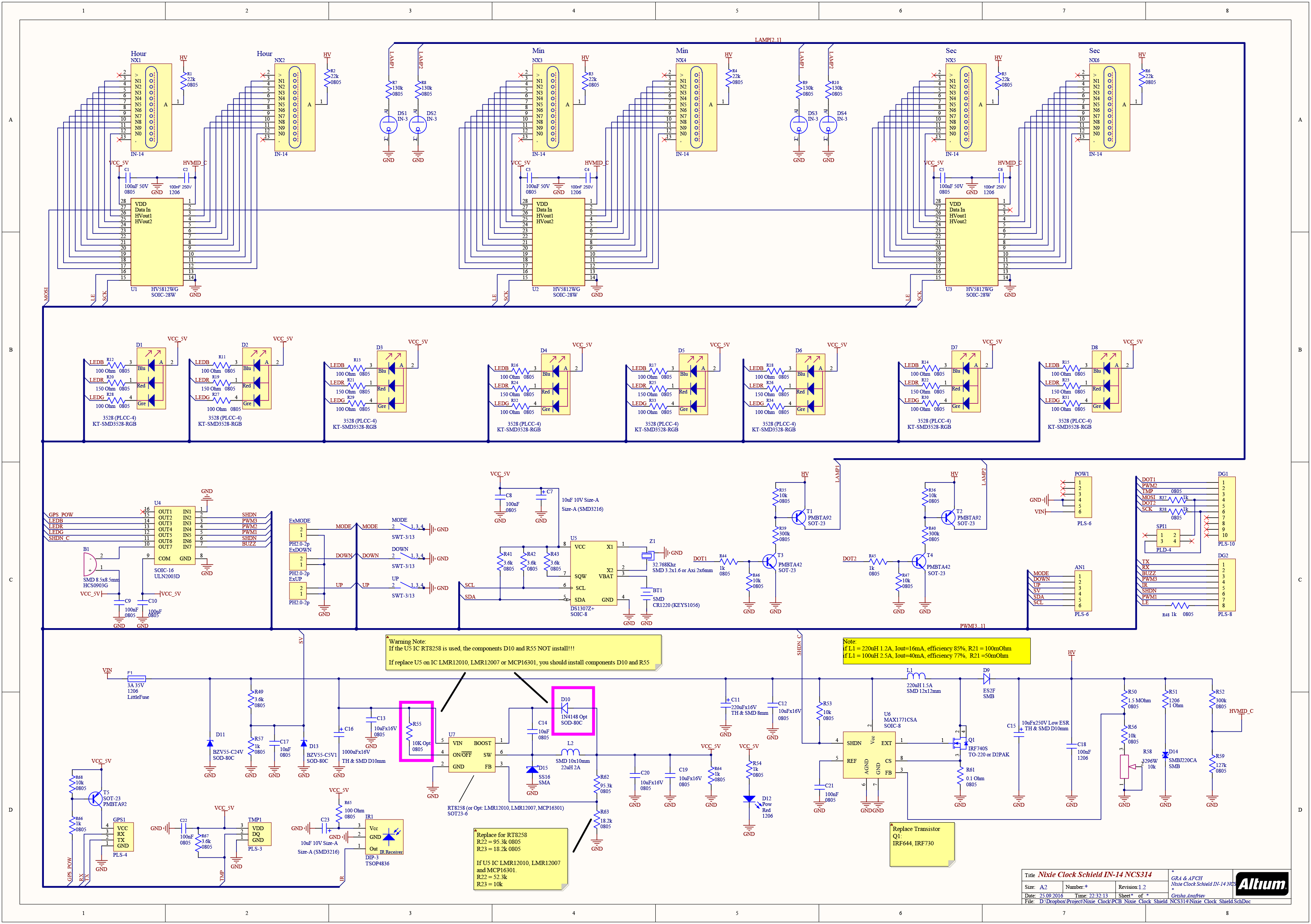 Nixie Clock Shield Ncs31420v11 Electronics Pinterest Schematic