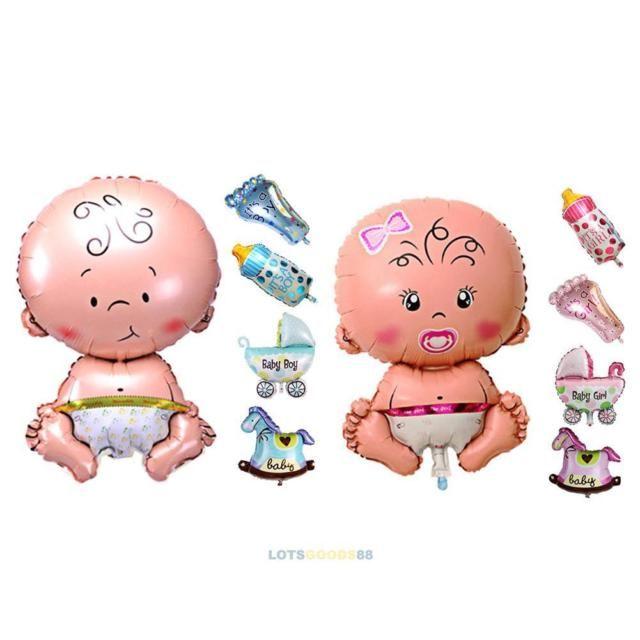 0af3ef623 5Pcs Baby Shower Foil Christening Balloons Decoration Kids Party Supply  Gift #L   eBay