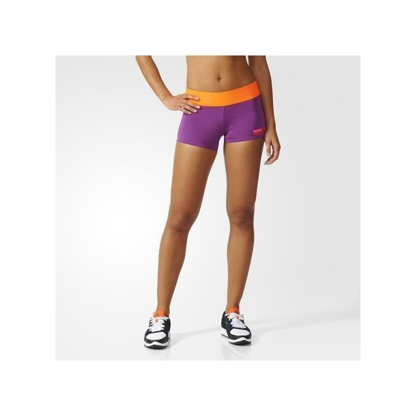 373439427e069 adidas STELLASPORT Workout Shorts ($35) ❤ liked on Polyvore featuring  activewear, activewear shorts, pop purple, adidas activewear, adidas  sportswear, ...