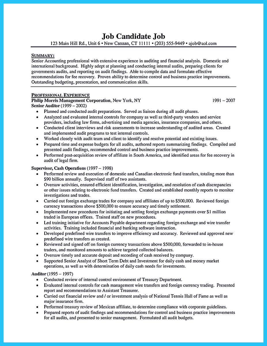 Accountant Resume Resume Auditor