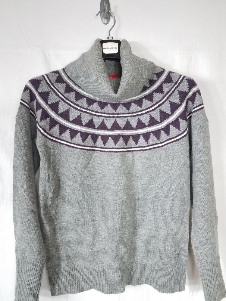 9ddb43ac3b6d Puma Grey and Purple Knit Turtle Neck Size Medium  fashion  clothing  shoes   accessories  womensclothing  sweaters (ebay link)