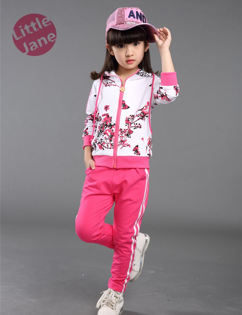 846a2e23f Girl s floral print tracksuit