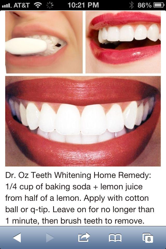 Teeth White Dr Oz Com Imagens Diy Beleza Branqueamento Dentario