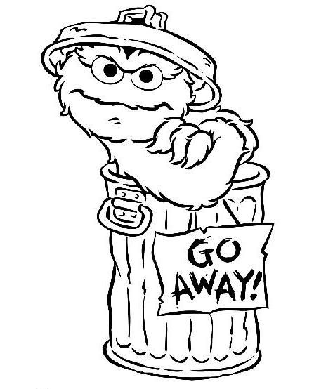 Oscar the Grouch Coloring Page george Pinterest Sesame streets - copy elmo coloring pages birthday