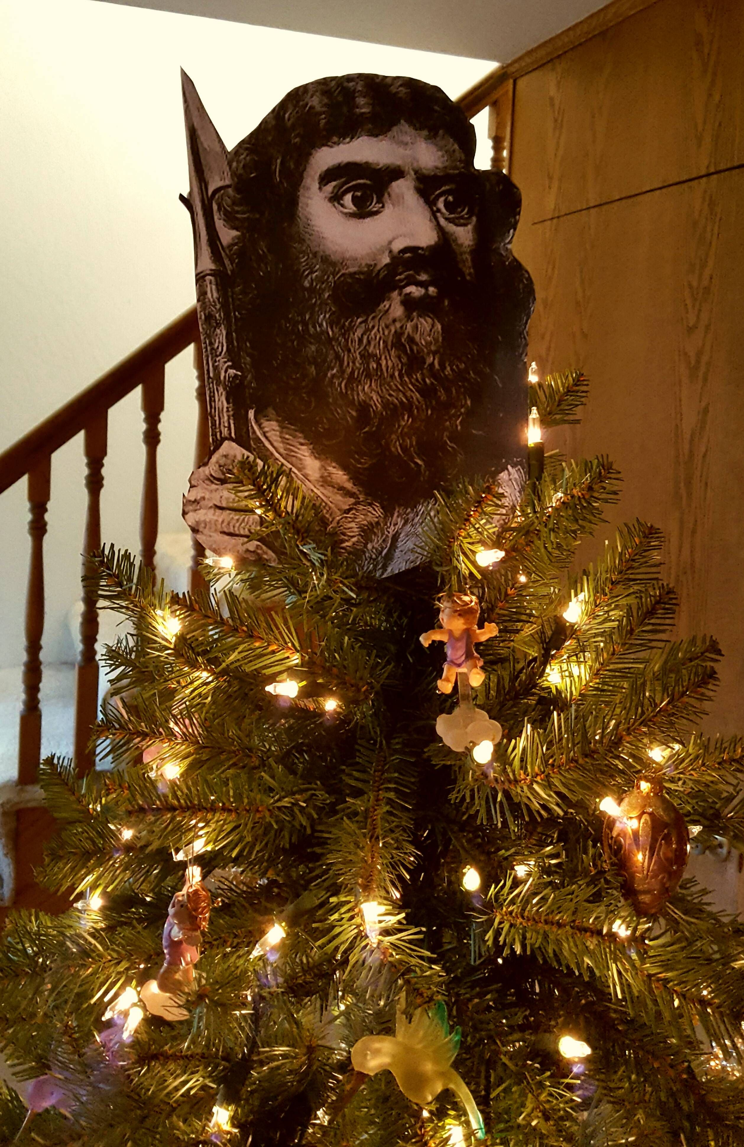 I finally set up my King Nimrod tree. He\'s the reason for the season ...