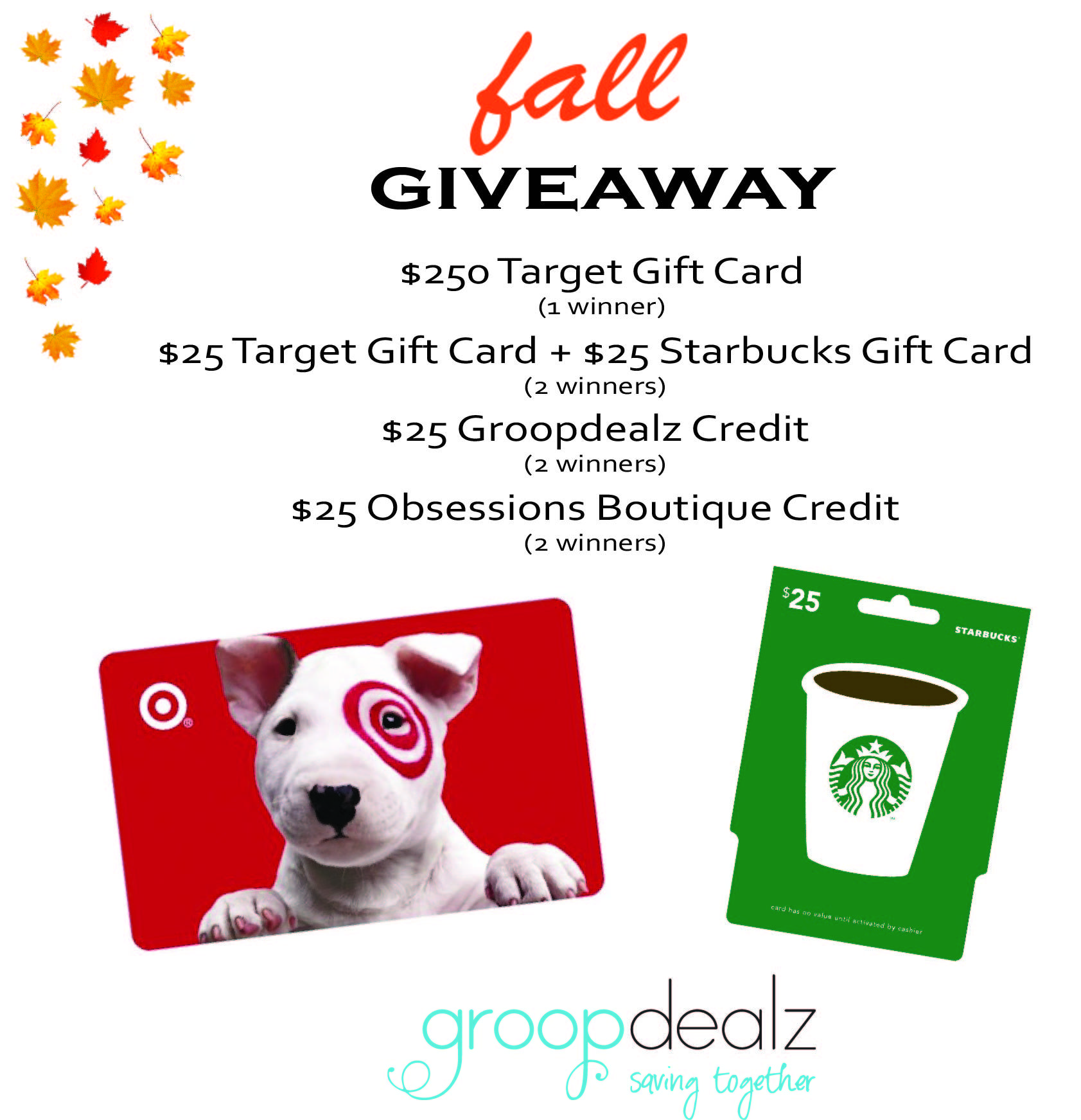 Enter to win a 250 target gift card or 6 other prizes