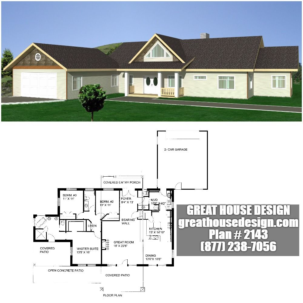 One-Story ICF Home Plan # 2143 Toll Free: (877) 238-7056 | Insulated ...