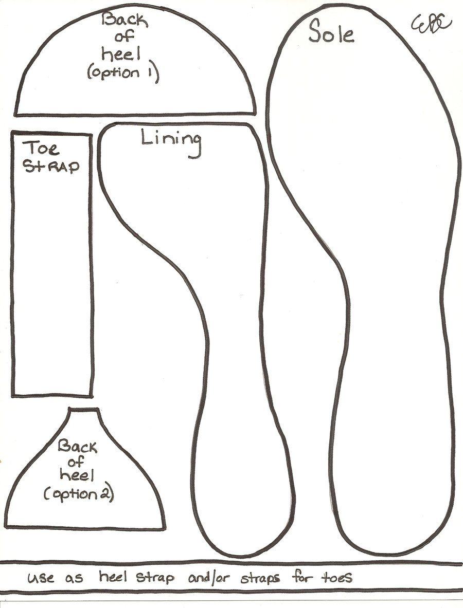 Geechigirl's High Heel Shoe Template This is a template that