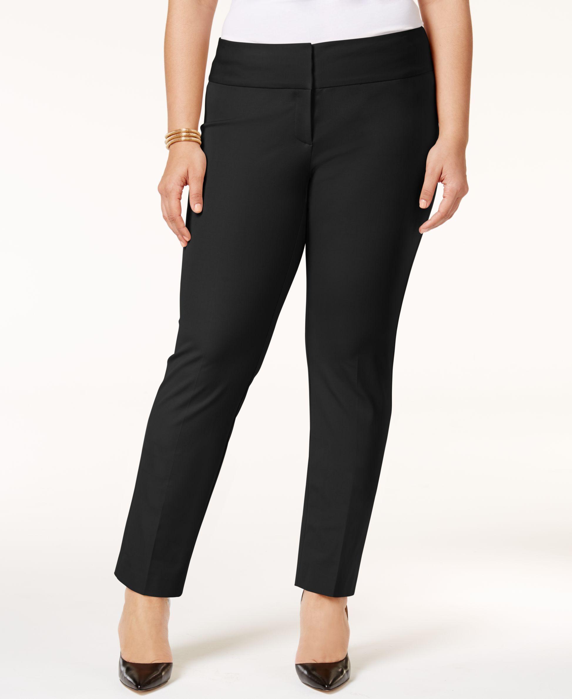 c4dc6e23e7f Alfani Plus Size Straight-Leg Pants