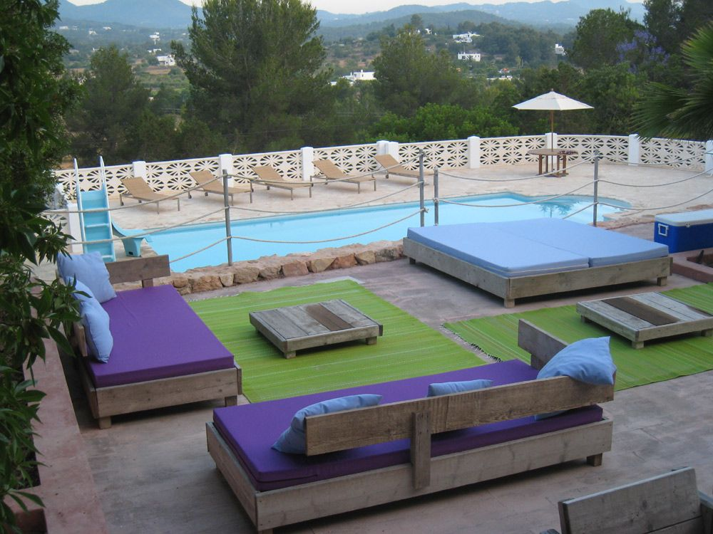 villa ibiza poolside outdoor