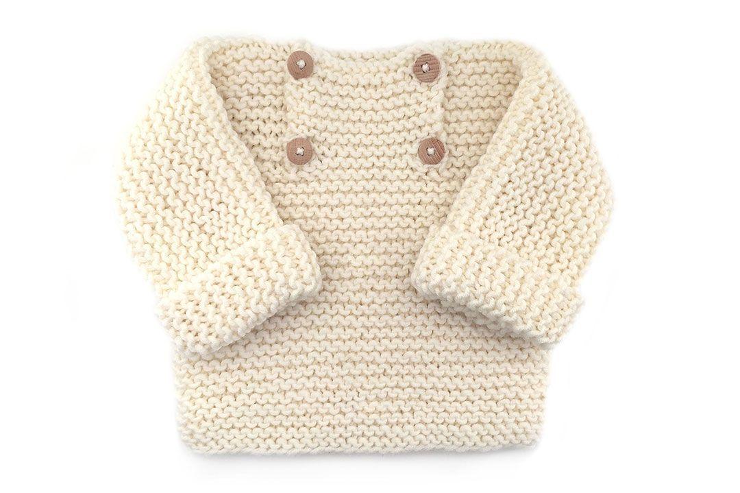 Jersey de bebé de punto bobo -Natural Baby | tejido | Jersey de bebé ...