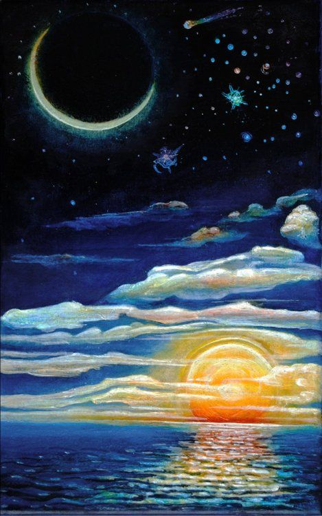 Sol luna y estrellas sun and moon pinterest sol y - Sol y luna decoracion ...