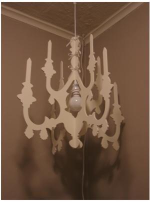 Cardboard chandelier diy wen paper crafts diy wen paper cardboard chandelier aloadofball Images