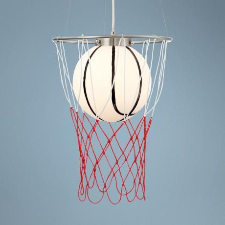 Basketball Hoop Pendant Light T6696 Lamps Plus Hoop Light Pendant Light Light