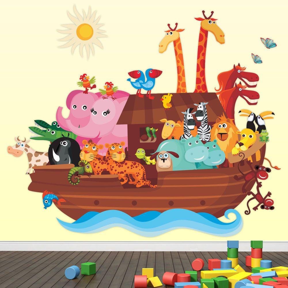 Best Childrens Bedroom Wall Sticker Noahs Ark Noahsark A3 Art For Kids Wall Stickers Bedroom 400 x 300