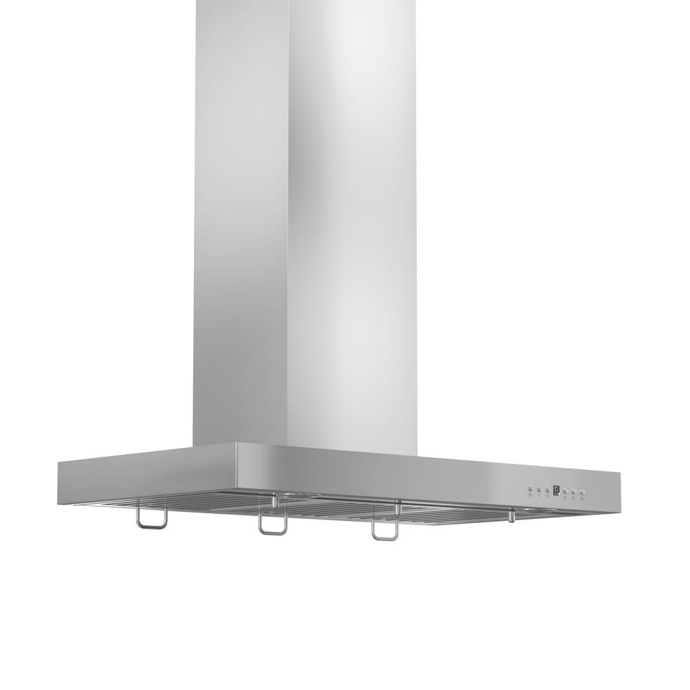 Zline Kitchen And Bath 42 In 760 Cfm Wall Mount Range Hood Stainless Steel Brushed 430