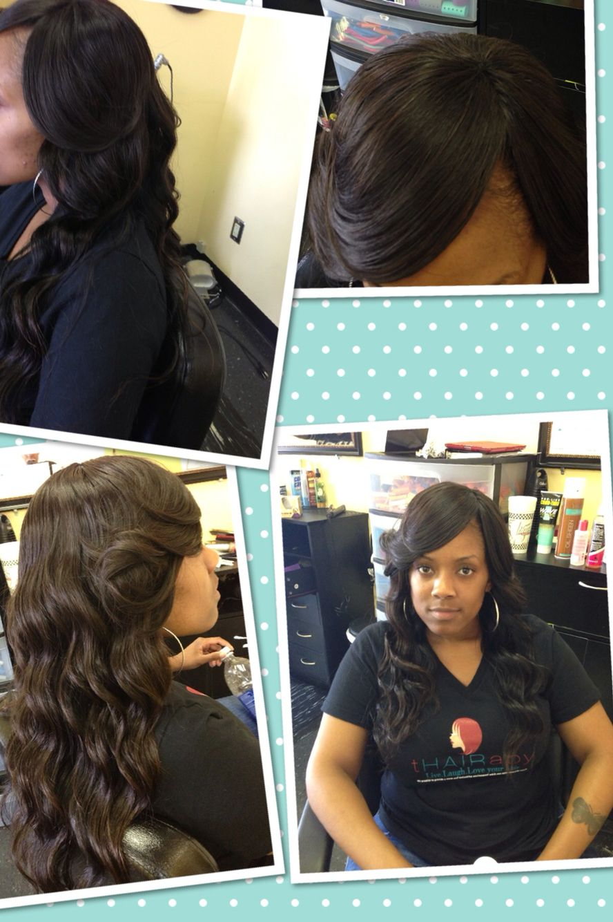 Full Sew In No Leave Out Weave Bob Hairstyles Weave Hairstyles Sew In Weave Hairstyles