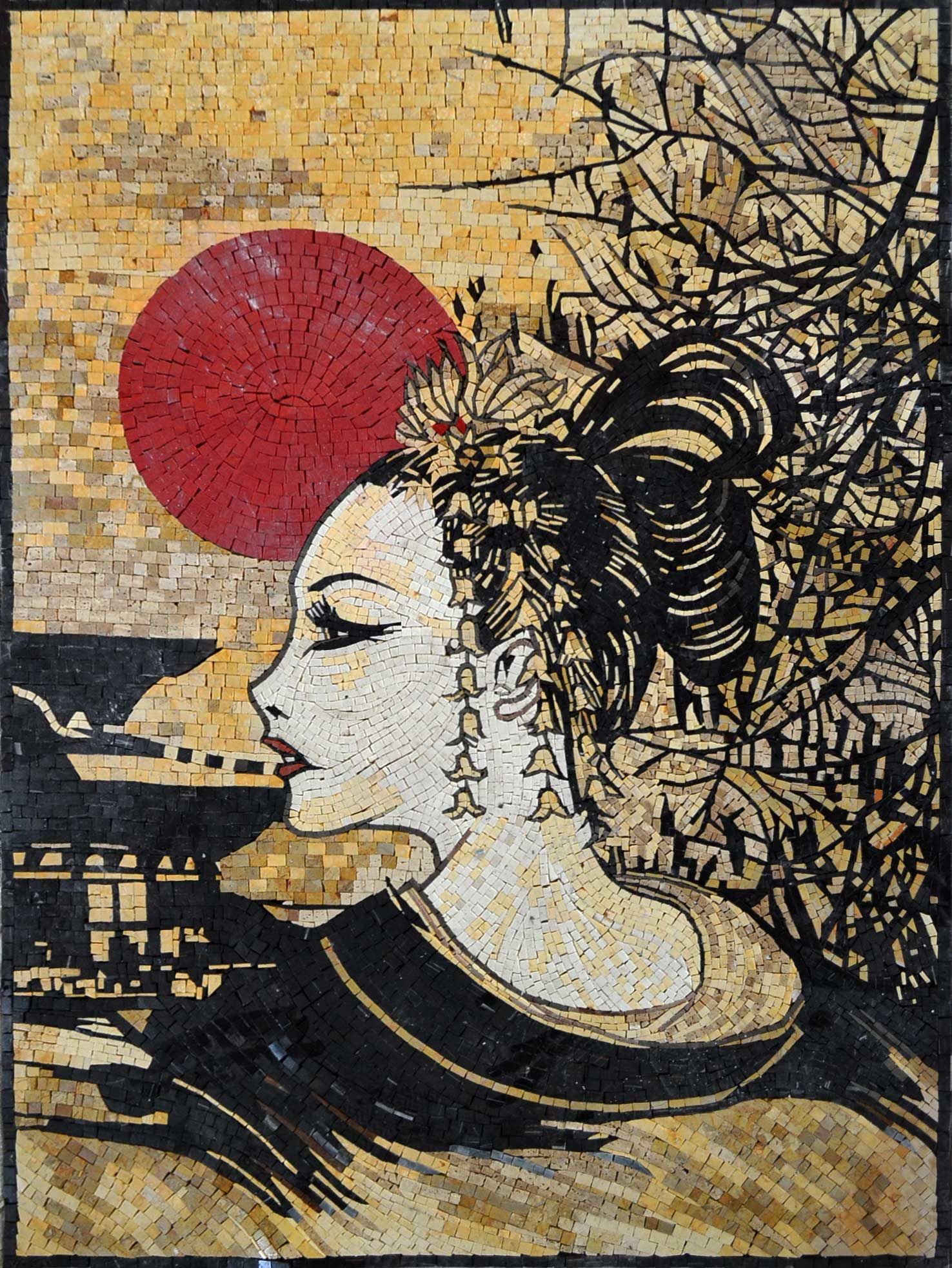 asian geisha artwork japanese geisha marble mosaic tile stones asian geisha artwork japanese geisha marble mosaic tile stones art wall mural ebay