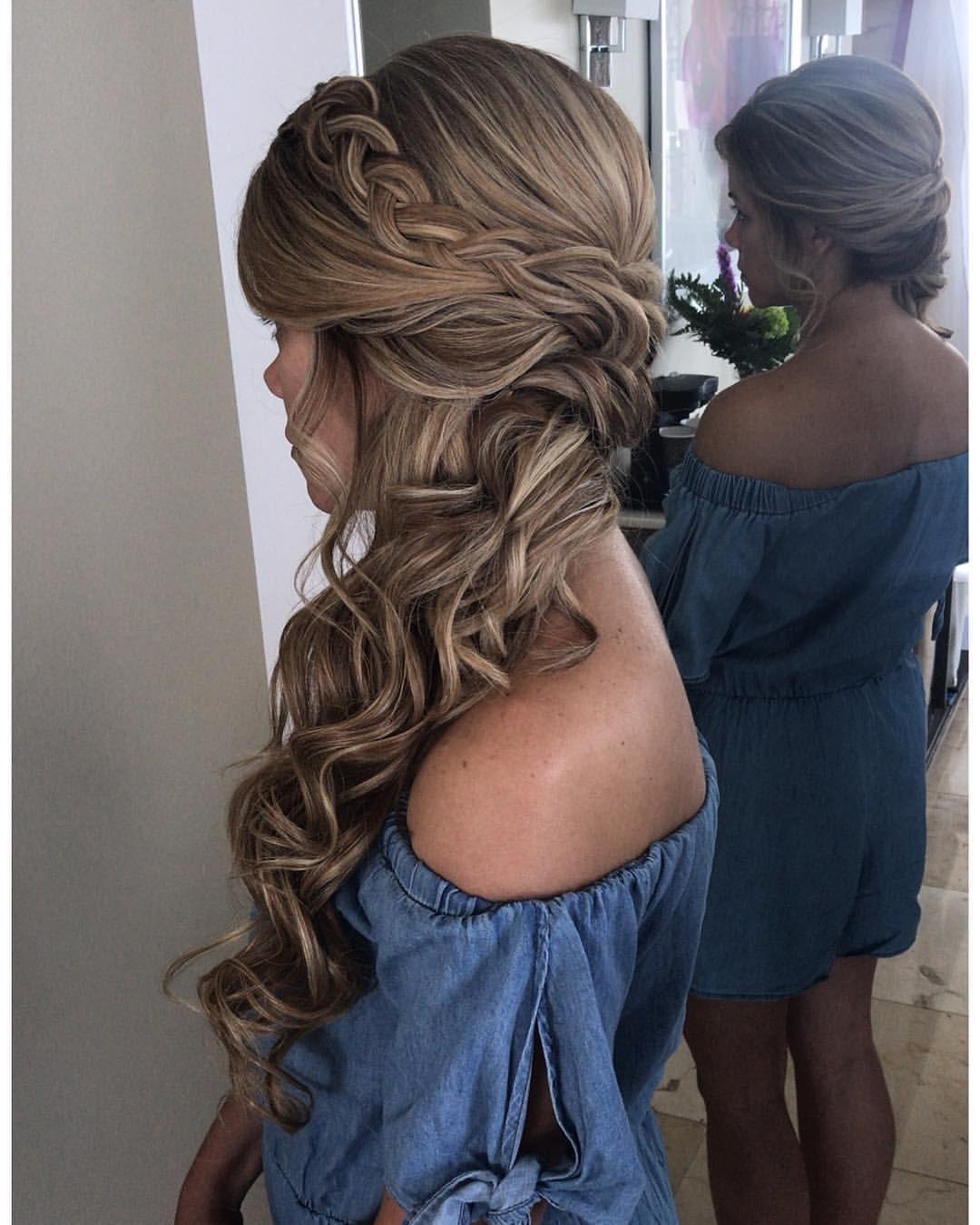 Bridesmaid Hairstyle! . . . . . . . #bridalhairandmakeup #bridallook #bridalstyl… – Home Design Blog