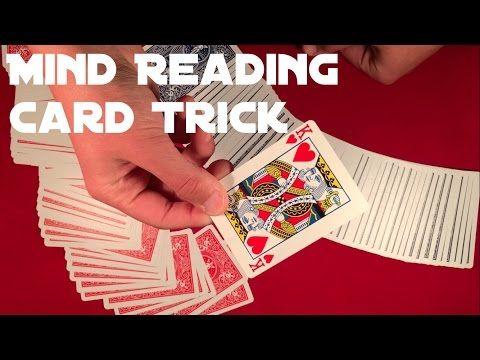 Beginner Mind Reading Card Trick Tutorial Card Tricks Mind Reading Tricks Learn Card Tricks