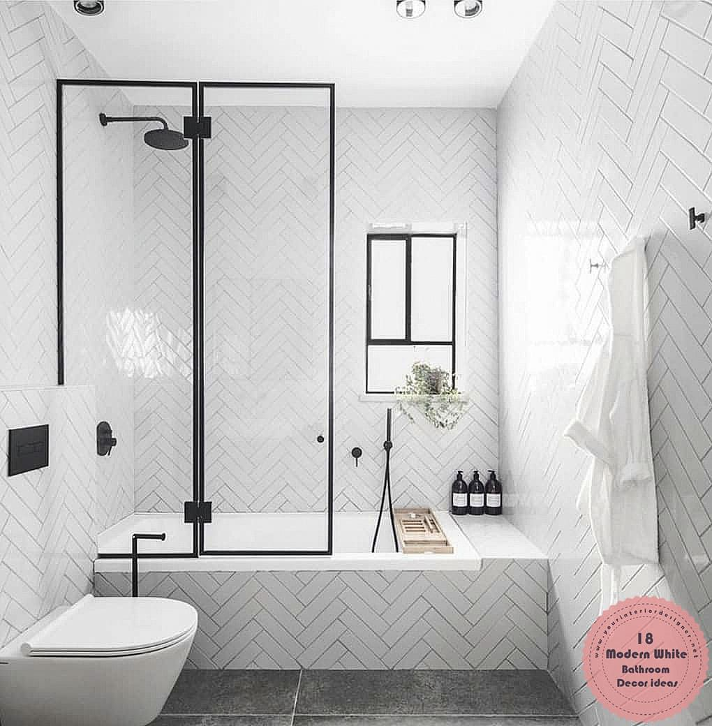 18 White Bathroom Decor That Will Refresh You When You Look At Them Design And Decor Ideas Modern Bathroom Decor Top Bathroom Design Modern Bathroom Modern white bathroom decor