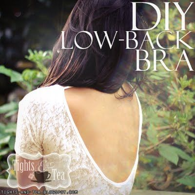 turn your favorite bra into a low-back bra (SUPER easy!)---interesting