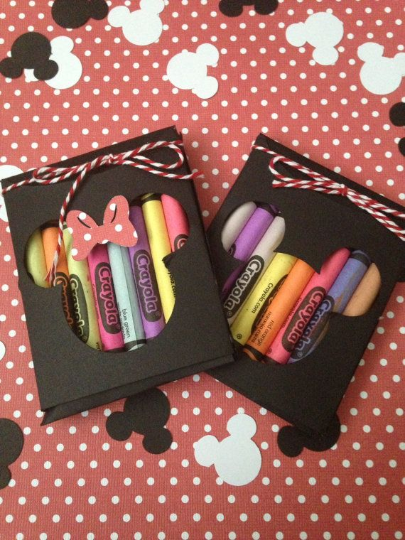 Minnie Mouse Party Favors, Minnie Mouse Crayon Set, Minnie Mouse Birthday Party Favors, Minnie Birthday Party, Minnie Party Favors
