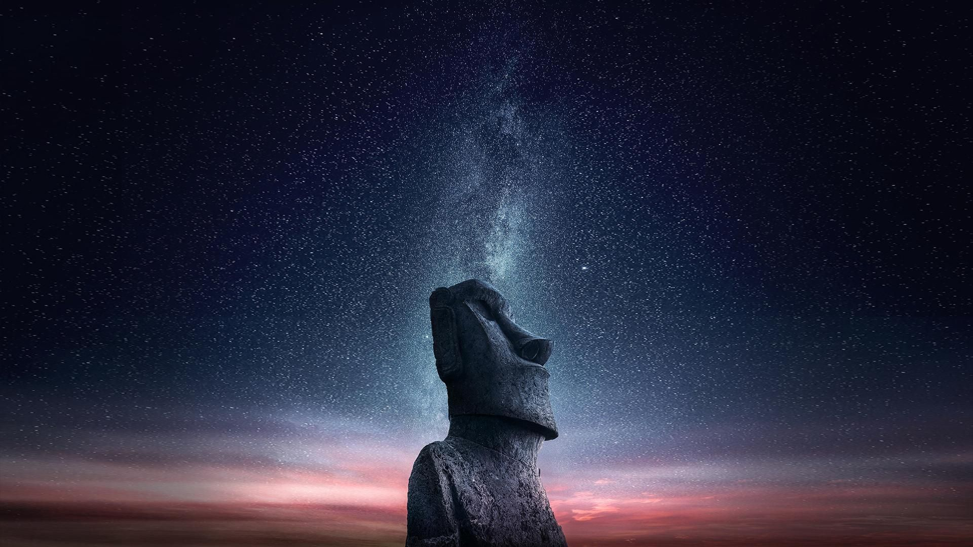 I Just Made A Horizontal Version For Computer Of My Famous Moai