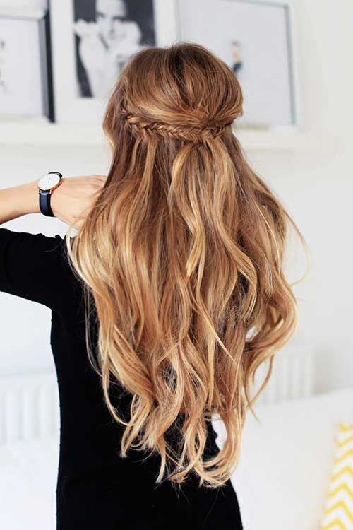 30 Simple Styles For Long Hair Long Hairstyles 2015 Hair Styles Long Hair Styles Hairstyle