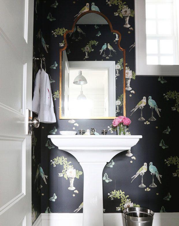 Best 10 Best Wallpapered Powder Rooms From Pinterest Powder 400 x 300