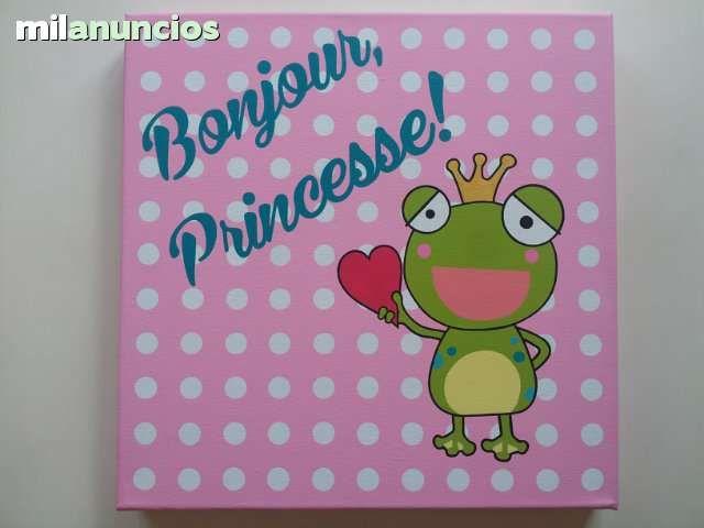 """Cuadro """"Bonjour Princesse"""" arratebarbara@hotmail.com"""