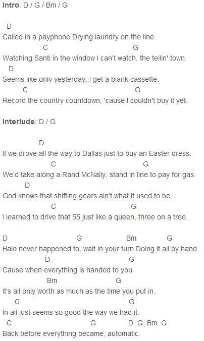 Miranda Lambert Automatic Chords Capo 3 | Music | Pinterest ...