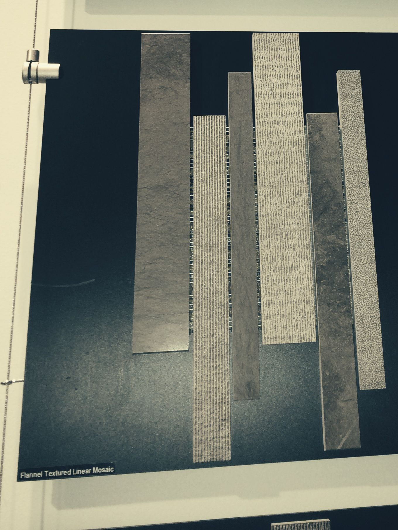 WZ- Flannel Textured Linear Mosaic