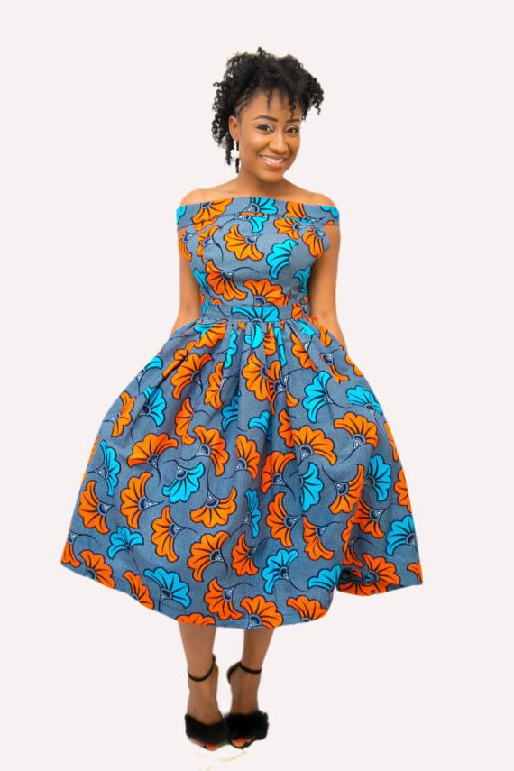 The BEE dress ankara african print african clothing