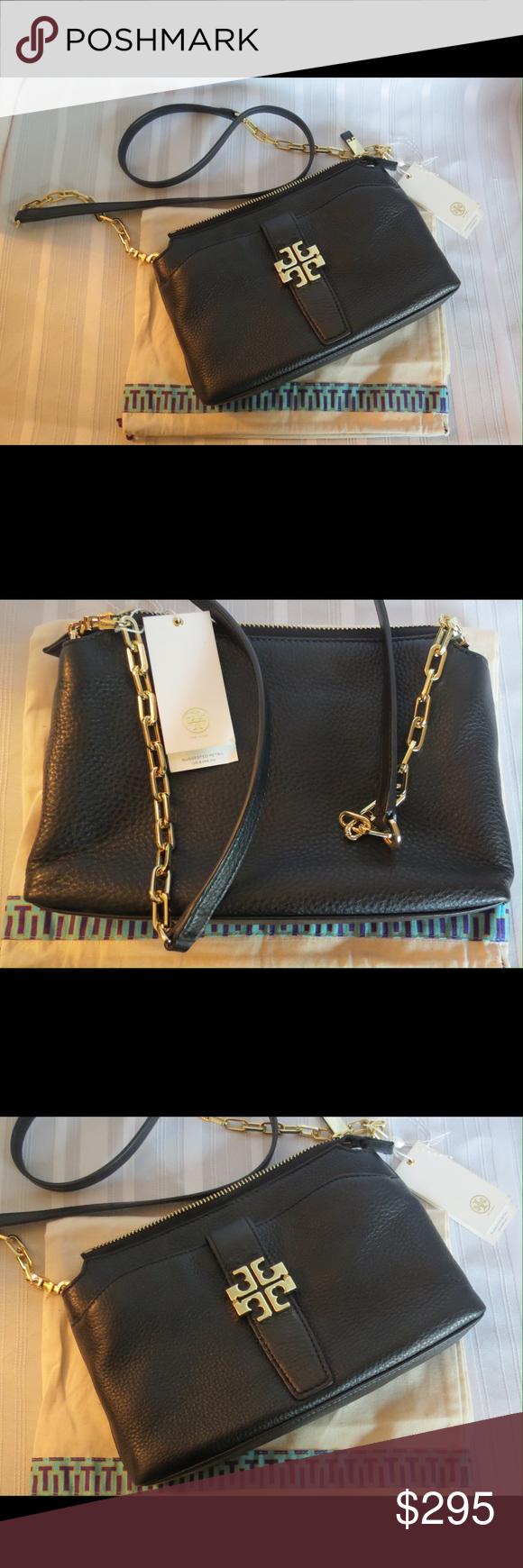 35254c5300c NWT Tory Burch MEYER CHAIN Leather Crossbody Bag