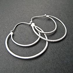 Double Hoops Silver Earrings SPRING14 code for 20% off :)