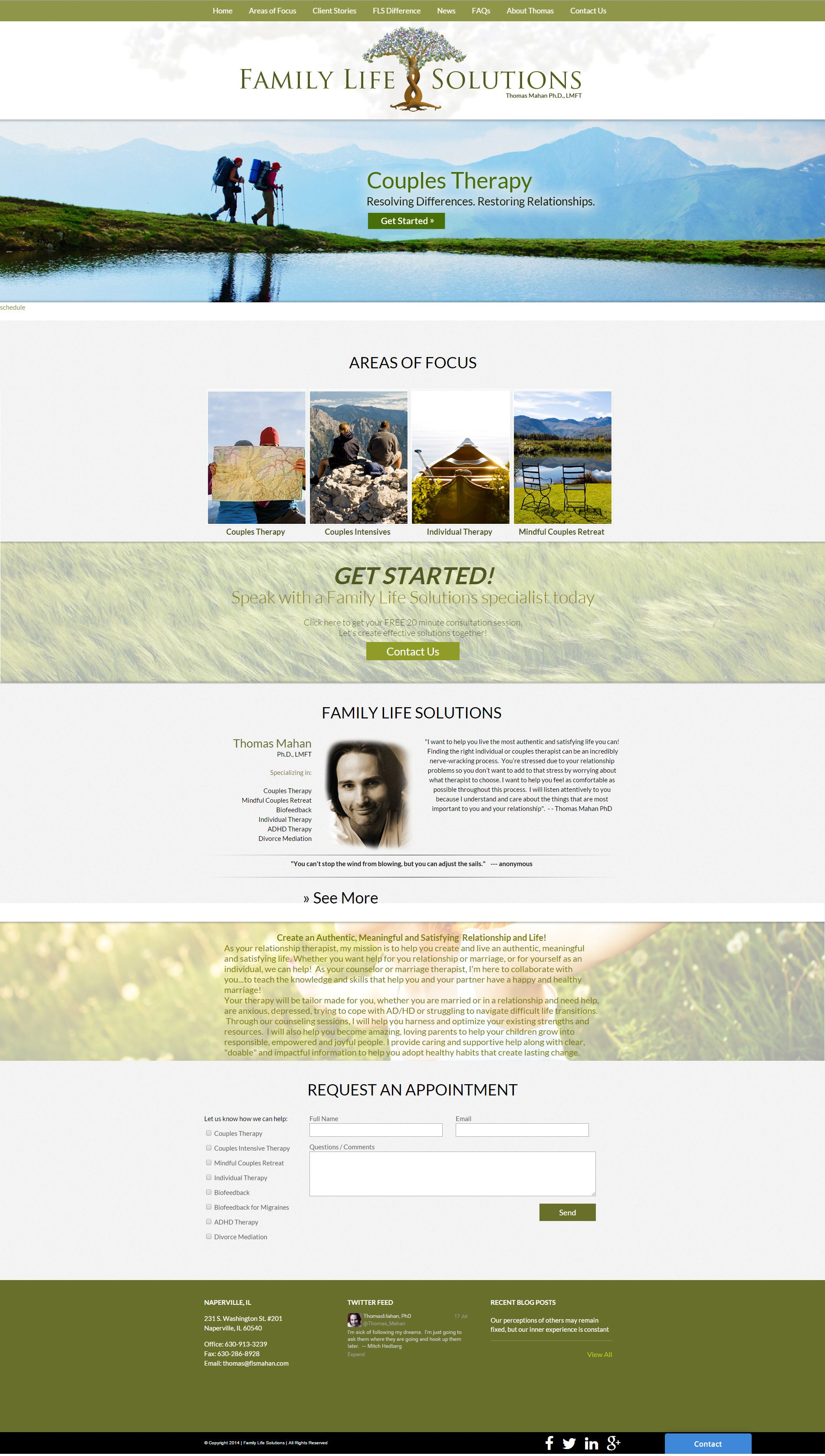 An Organic And Calming Web Design By Visionfriendly Com Life Solutions Couples Therapy Website Design
