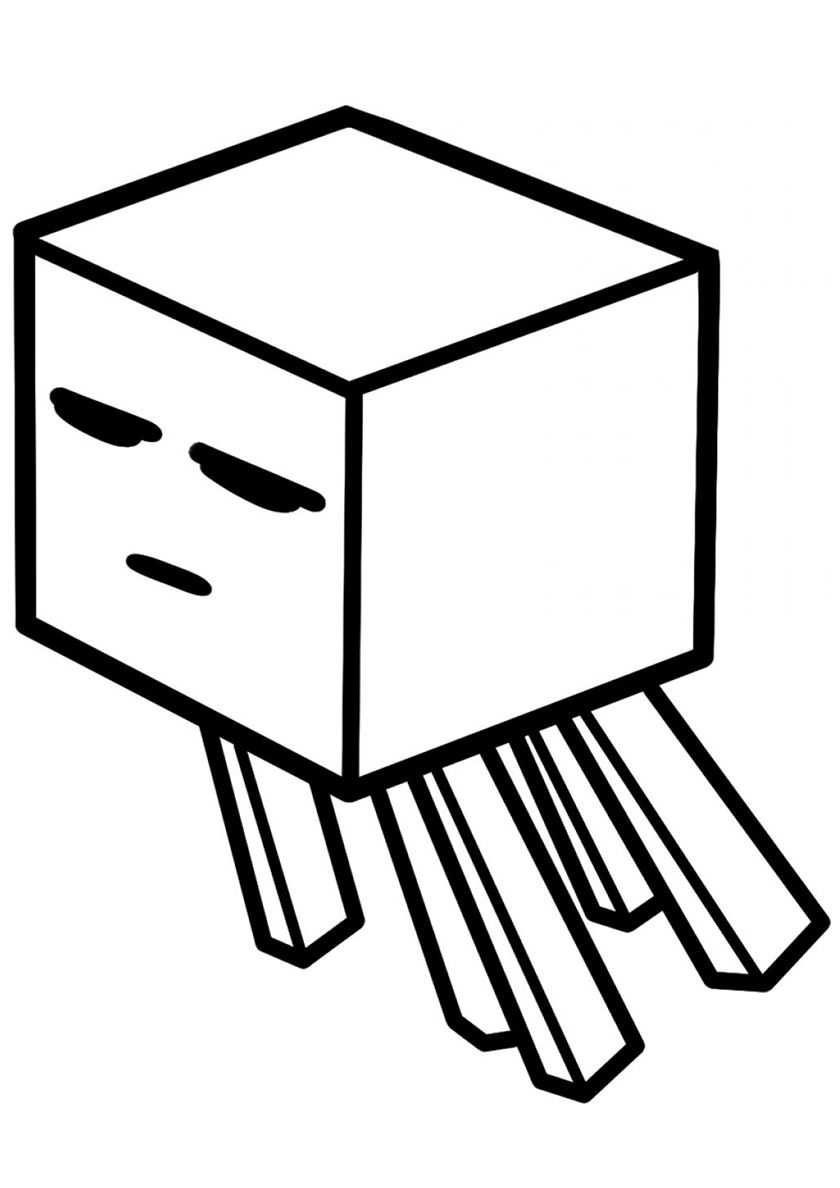 Hostile Ghast High Quality Free Coloring From The Category Minecraft More Printable Pictures On Minecraft Coloring Pages Coloring Pages Printable Pictures [ 1188 x 840 Pixel ]
