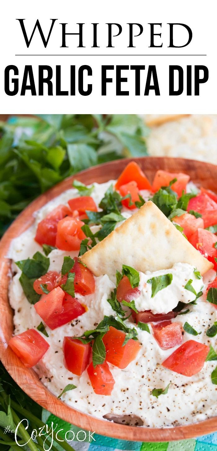 Photo of Whipped Garlic Feta Dip – The Cozy Cook