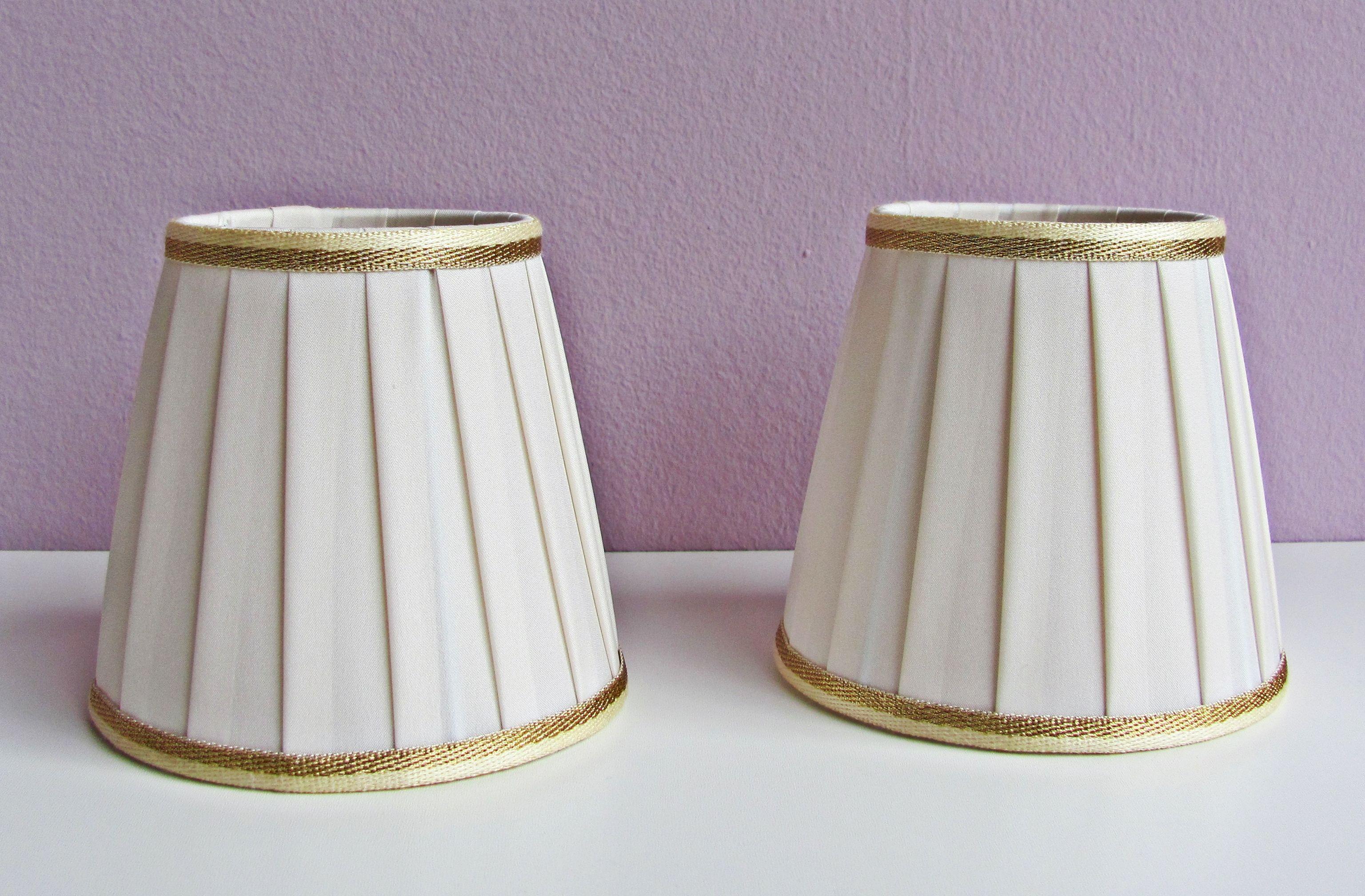 Paralumi per lampadario in tessuto pongè lavorazione plissè