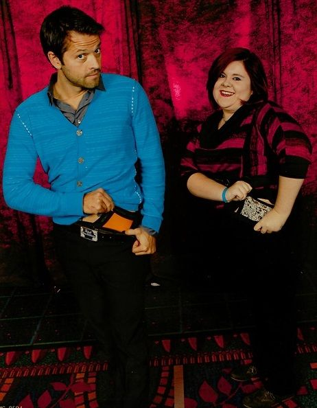 """#BurCon2013 """"Ok, I was really nervous going up to Misha because… hello I'm about to ask him to flash his underwear. So I get up there and right off I tell him """"You can say no but…"""" and he just did it. I did it too and all I heard were gasps and woo!s. And then it was over. I thanked him and he wINKED at me."""""""