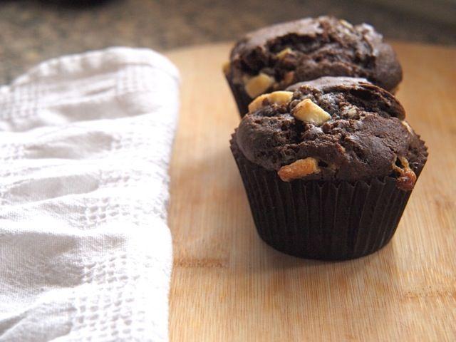 Valrhona White Chocolate Chunk Buttermilk Chocolate Muffins Chocolate Muffins Chocolate Craving Valrhona Chocolate