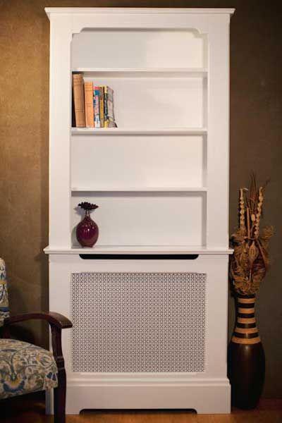 White Radiator Cabinet And Bookcase Jpg 400 600 Projektowanie