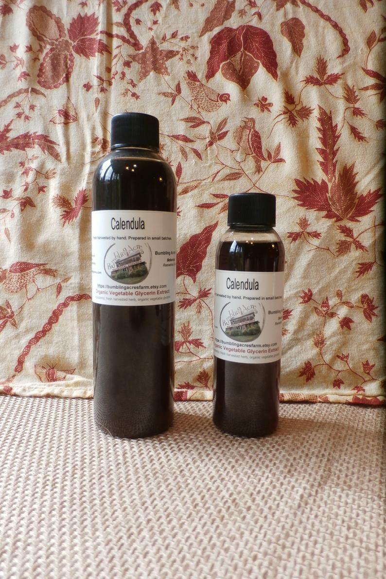 Calendula glycerite vegetable glycerin extract diy hair