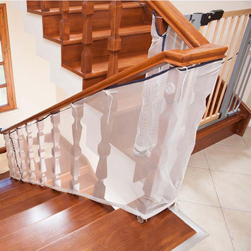 Balcony Stair Safety Net Guard for Kids | Outdoor stair ...